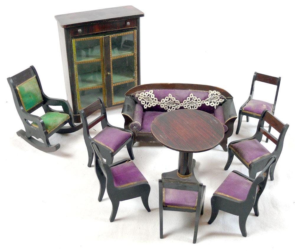 wohnzimmer m bel holz um 1900 ebay. Black Bedroom Furniture Sets. Home Design Ideas